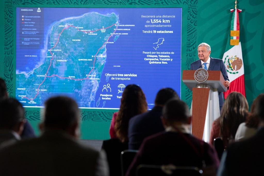 Tren Maya no afecta reservas: AMLO