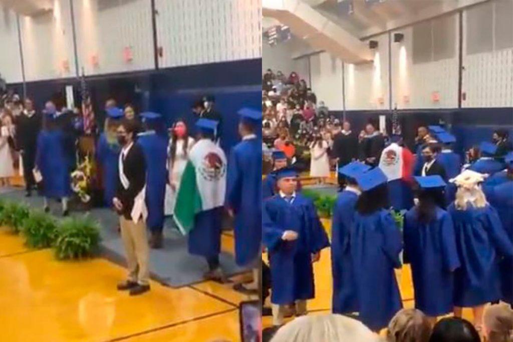 Niegan diploma a alumno en EUA por portar bandera de México Foto: Internet