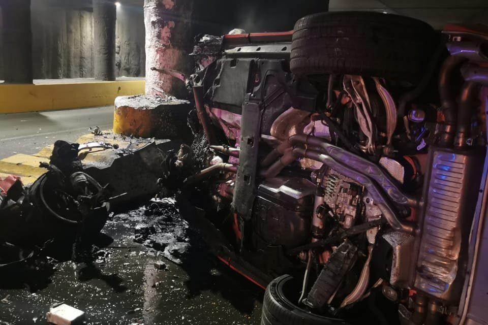 Muere conductor de un lamborghini tras impactar en túnel de Guadalajara Foto: Internet