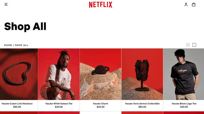 Con artículos exclusivos de series, Netflix lanza tienda online