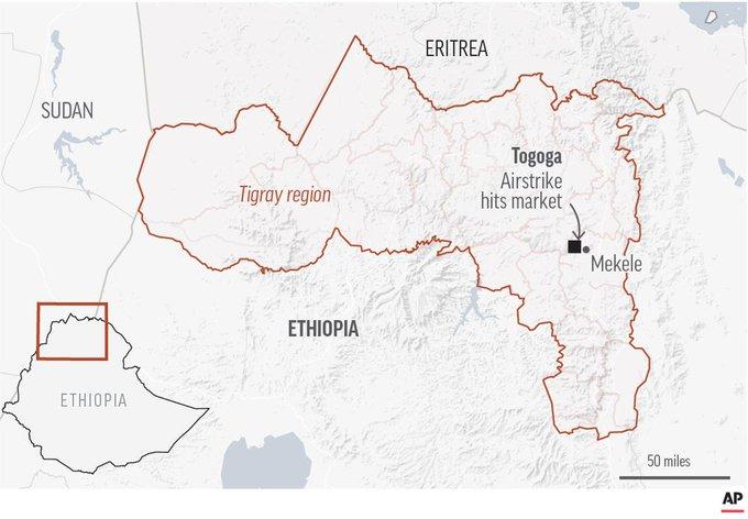 Docenas de muertos en bombardeo en Tigray, Etiopía