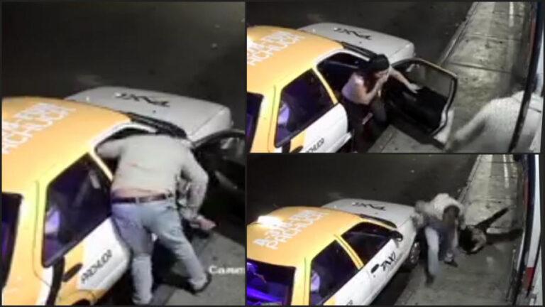 VIDEO I Taxista golpea brutalmente a mujer en Pachuca, Hidalgo Foto: Internet
