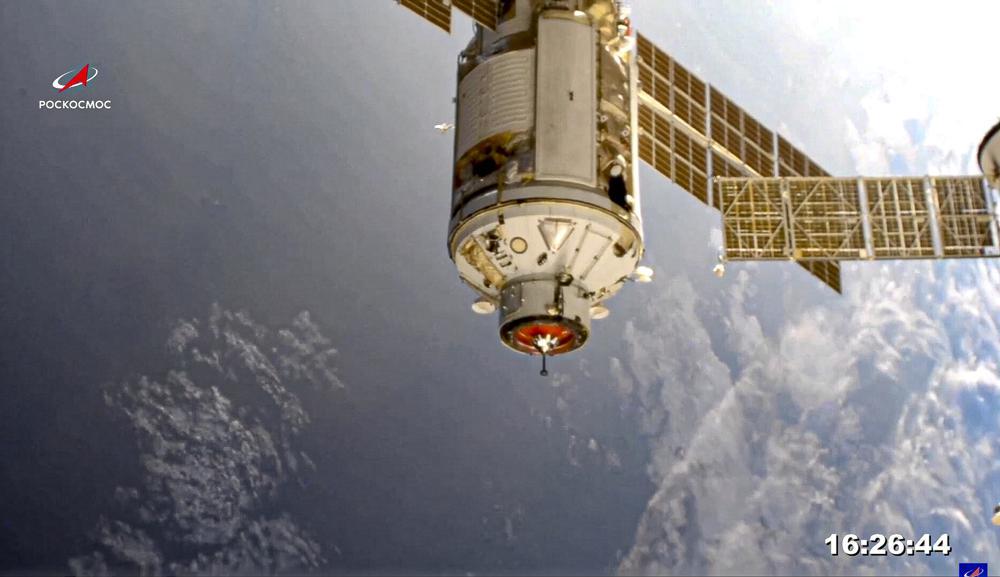 Nuevo laboratorio ruso golpea brevemente a la estación espacial fuera de posición Foto: AP