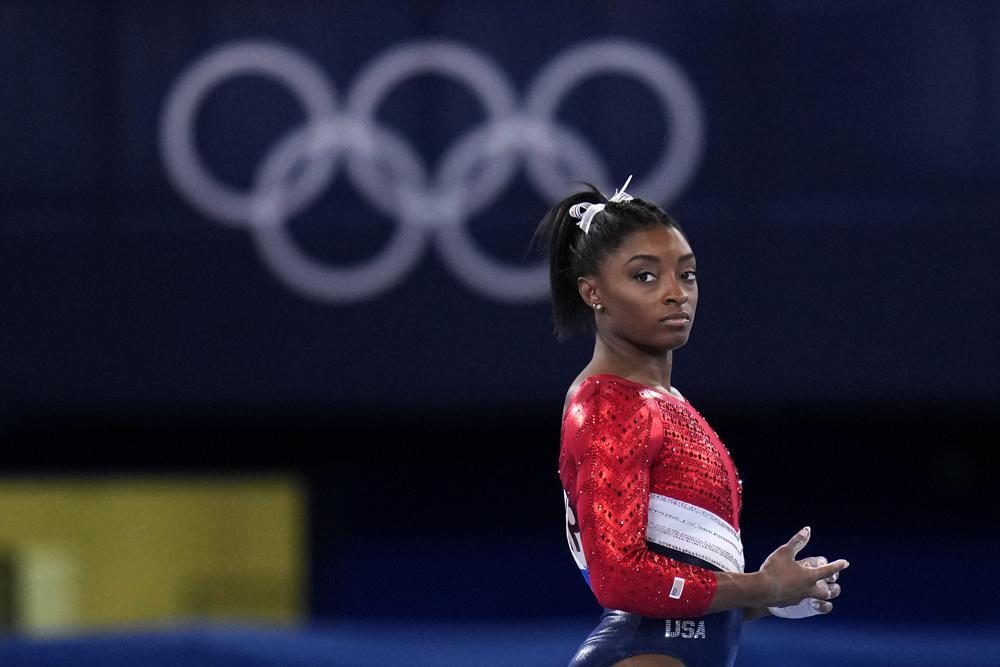Simone Biles se retira de la competición general Foto: AP