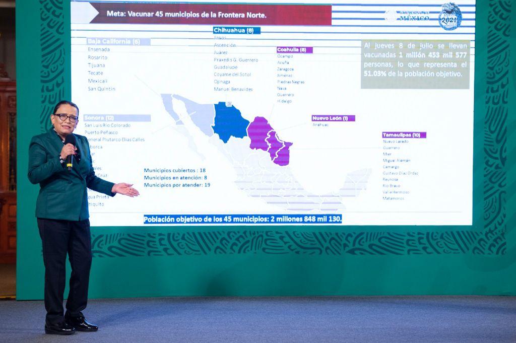 Avanza vacunación en frontera norte