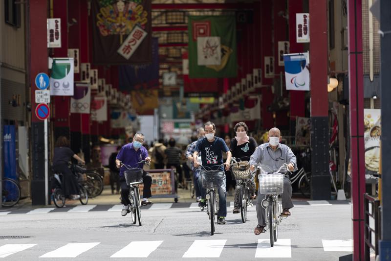 Tokio bate récord de contagios covid a una semana de los Juegos Foto: AP