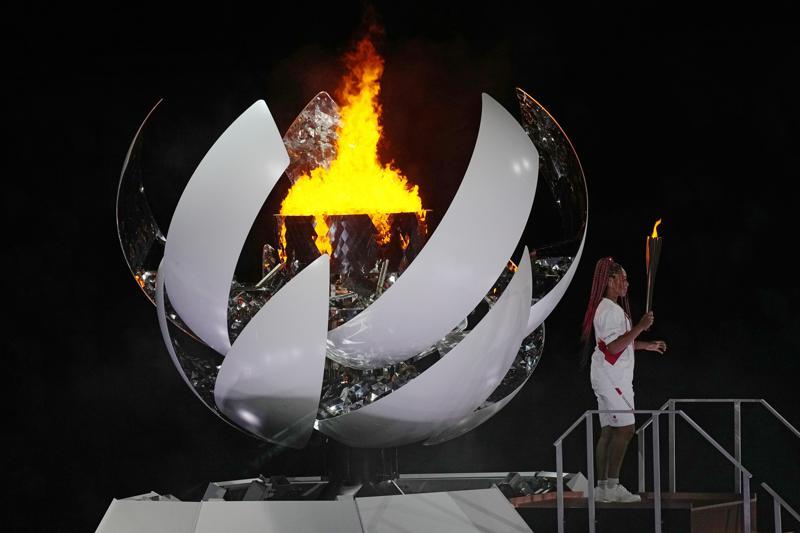 La llama olímpica de Tokio es la primera impulsada por hidrógeno Foto: AP