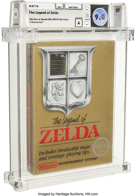 El juego sin abrir de Legend of Zelda de 1987 se vende por $ 870,000 Foto: AP
