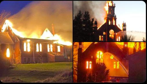 Tras hallar más niños indígenas enterrados en Canadá, incendian iglesias católicas