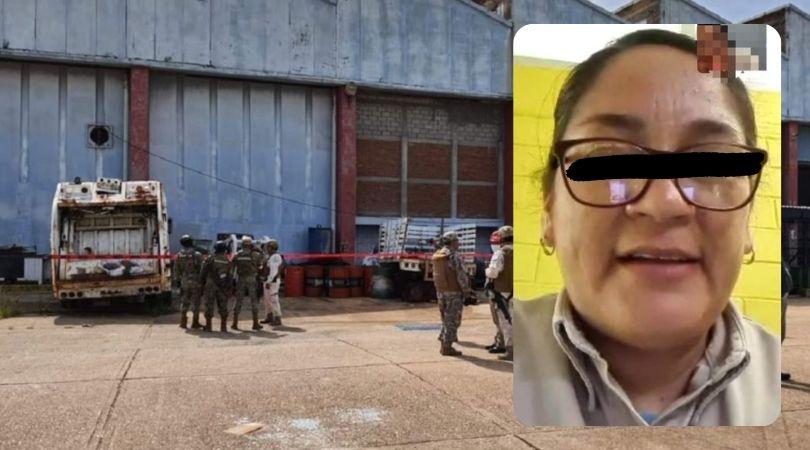 Matan a empleada de Pemex y la dejan en contenedor de basura