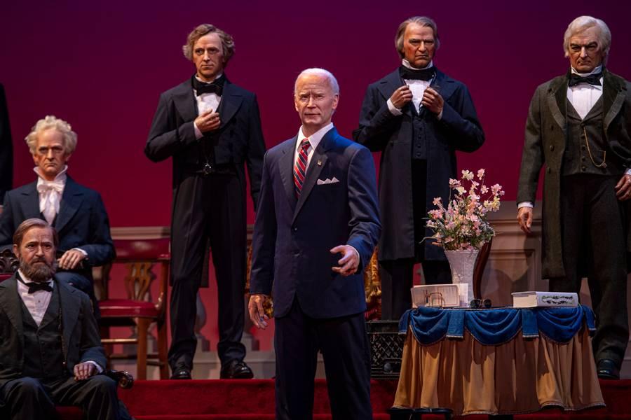Joe Biden animatrónico se une a Salón de Presidentes en Disney