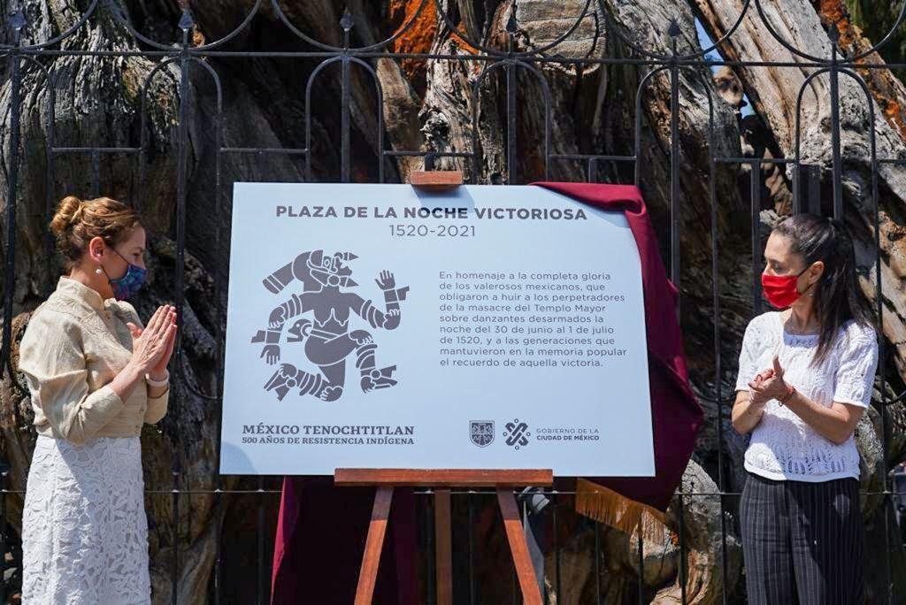 """Ahuehuete donde Hernán Cortés lloró ahora se llama """"Árbol de la noche victoriosa"""""""