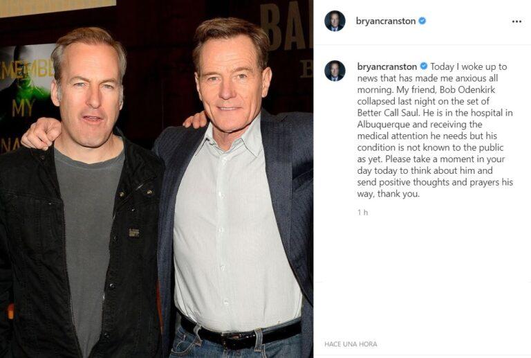 Bryan Cranston pide rezar por el estado de salud de Bob Odenkirk (Better Call Saul)