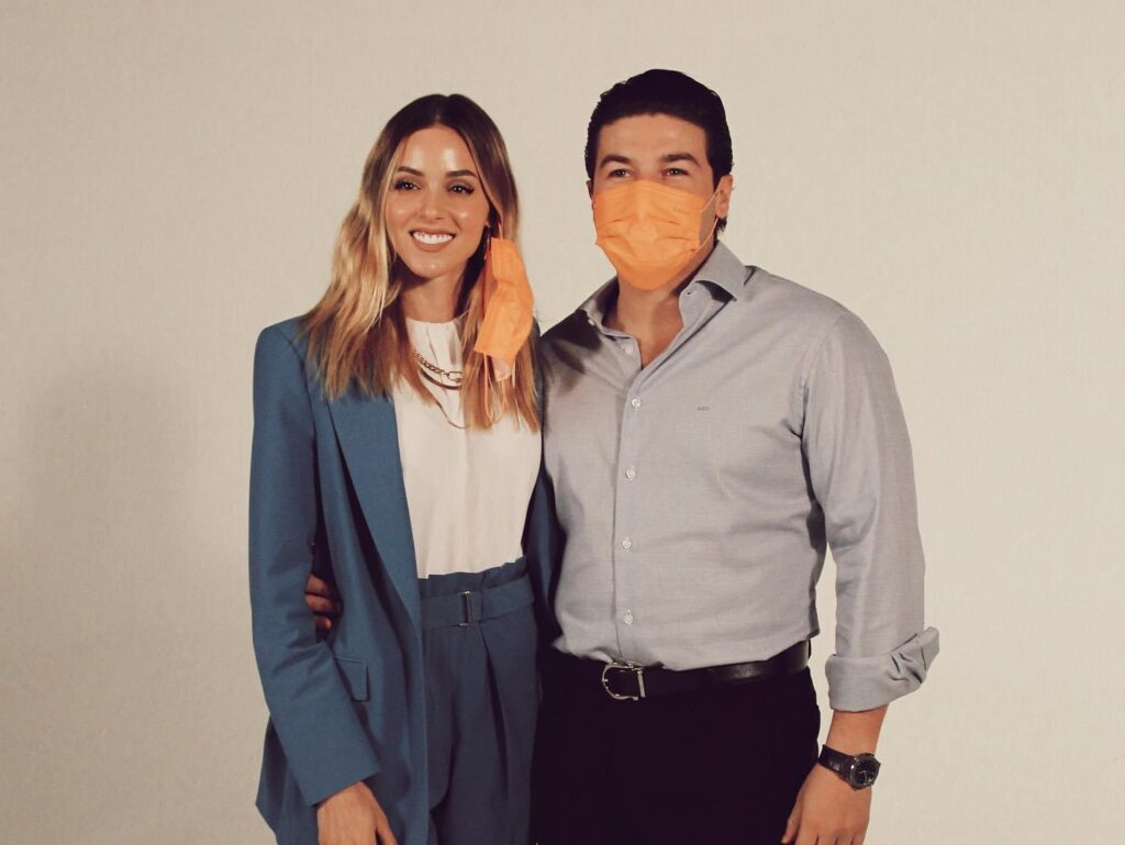 Samuel García y Mariana Rodríguez