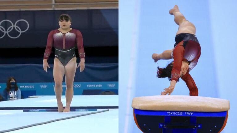 Alexa Moreno una de las 8 finalistas en la prueba de salto de potro (Video)