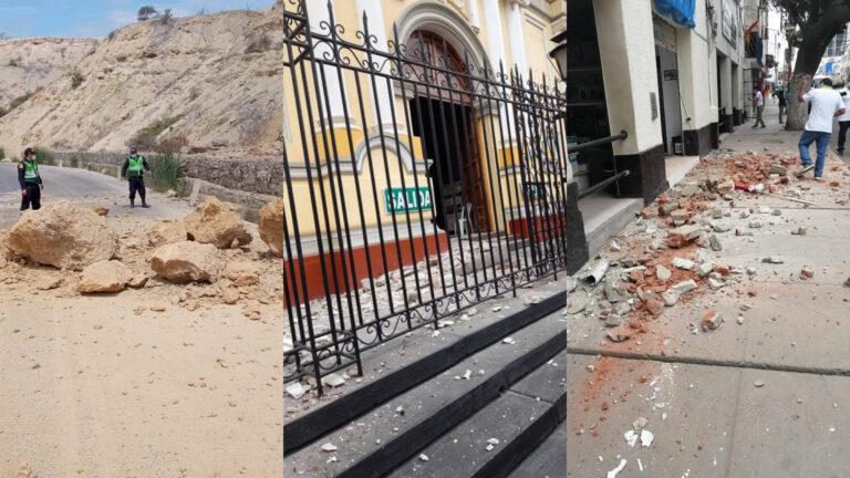 Sismo de 6,1 remece costa de Perú, deja daños materiales (Video)