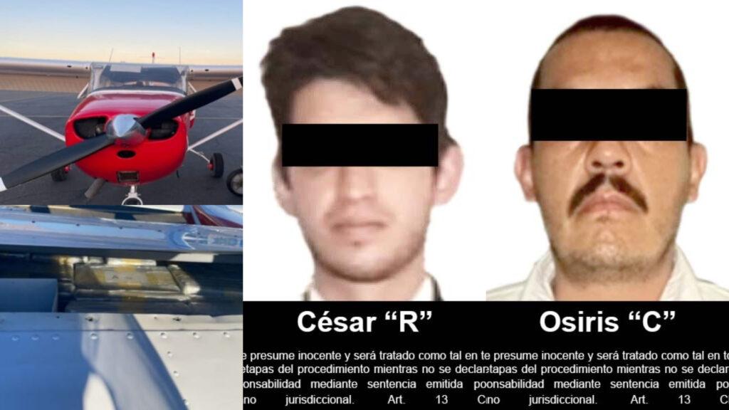 Juez federal vinculó a proceso a 2 hombres detenidos por aerotransportar cocaína