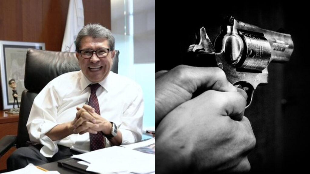Urge Ricardo Monreal agenda bilateral para frenar el tráfico ilícito de armas