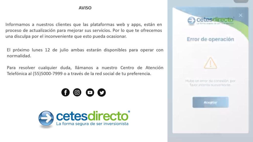 Por actualización de app de CETES Directo se queda fuera de servicio, usuarios reclaman