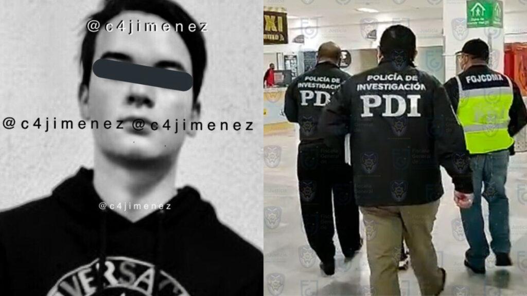 Fiscalía CDMX e Interpol detuvieron a Axel 'N' por delito de violación contra la joven Ainara 'N'