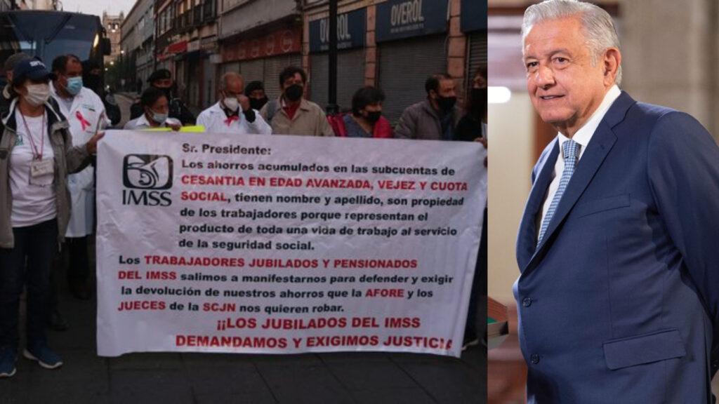 AMLO descarta entregar fondos a pensionados del IMSS