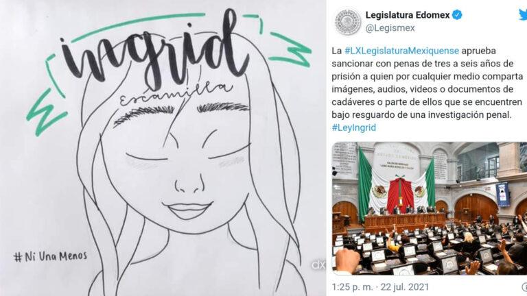 """Edomex aprobó """"Ley Ingrid"""": 11 años de cárcel para quien filtre imágenes"""