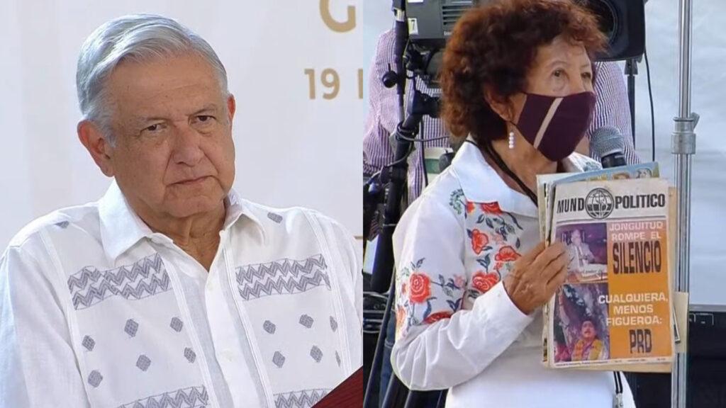Ernestina Aguilera y AMLO