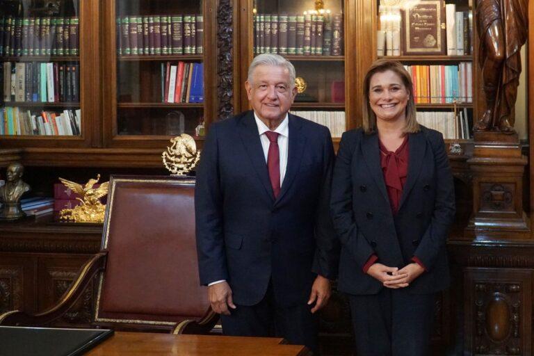 Atender el pueblo, dice AMLO tras reunión con Maru Campos