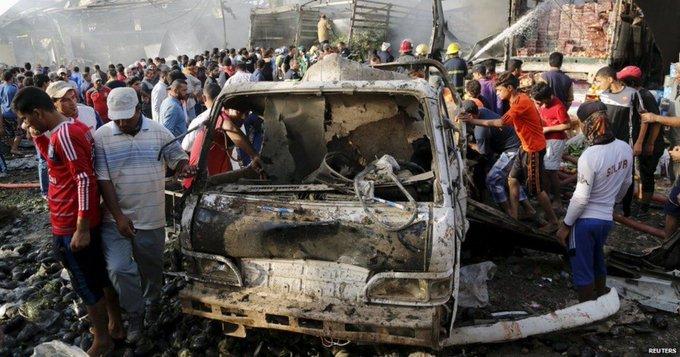 25 muertos, varios heridos por bomba en mercado en Irak