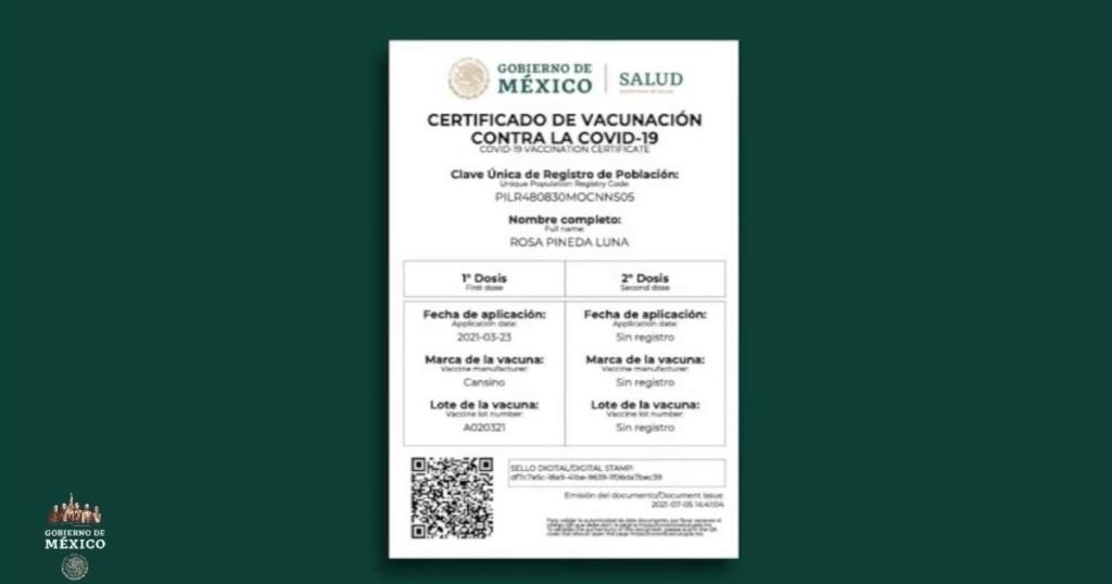 certificado de vacunación Foto: Internet