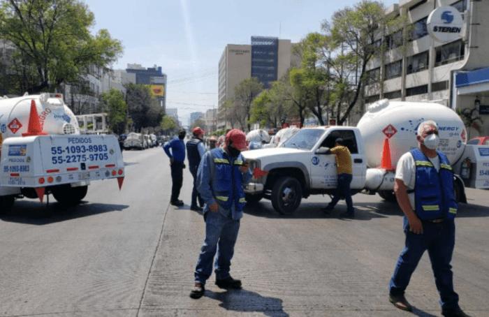 Gaseros se rebelan e inician paro nacional por precio de gas LP Foto: Formato7iete