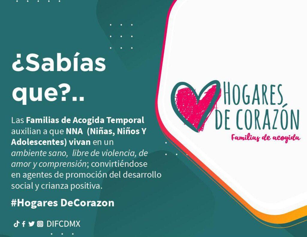 CDMX presenta programa de adopción temporal 'Hogares de Corazón' familias de acogida