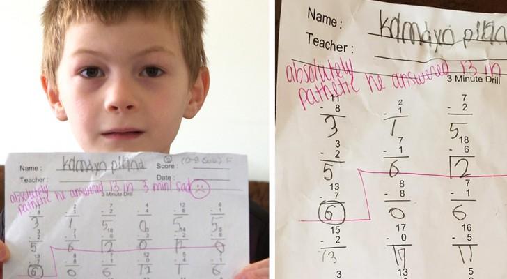 Maestra escribe nota negativa a alumno en tarea; padre pide que la despidan Foto: Internet