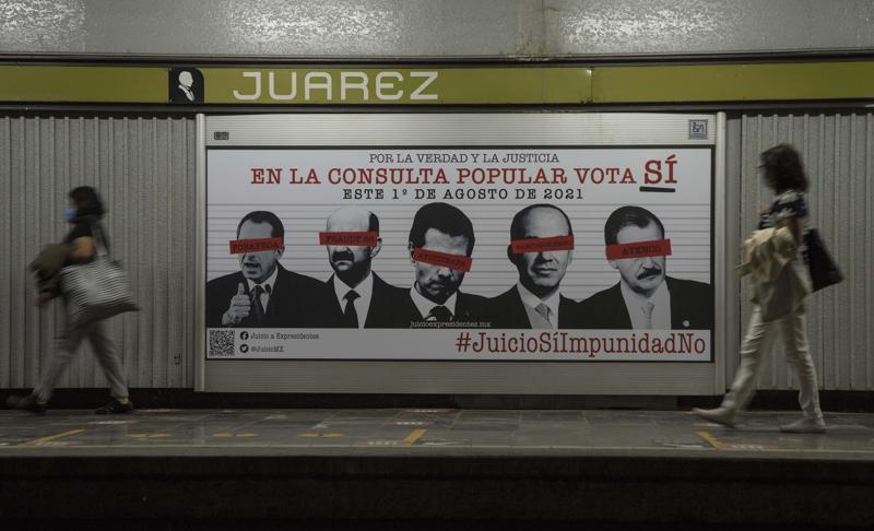 México realiza referendo sobre enjuiciar a expresidentes Foto: AP