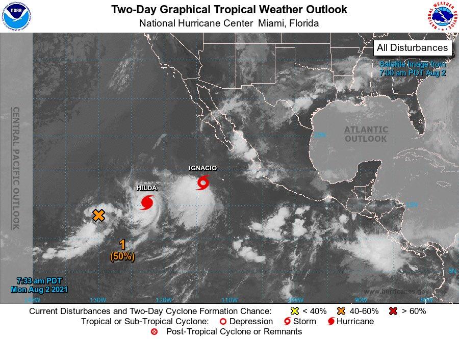 Se forma tormenta Ignacio en el Pacífico; no amenaza tierra