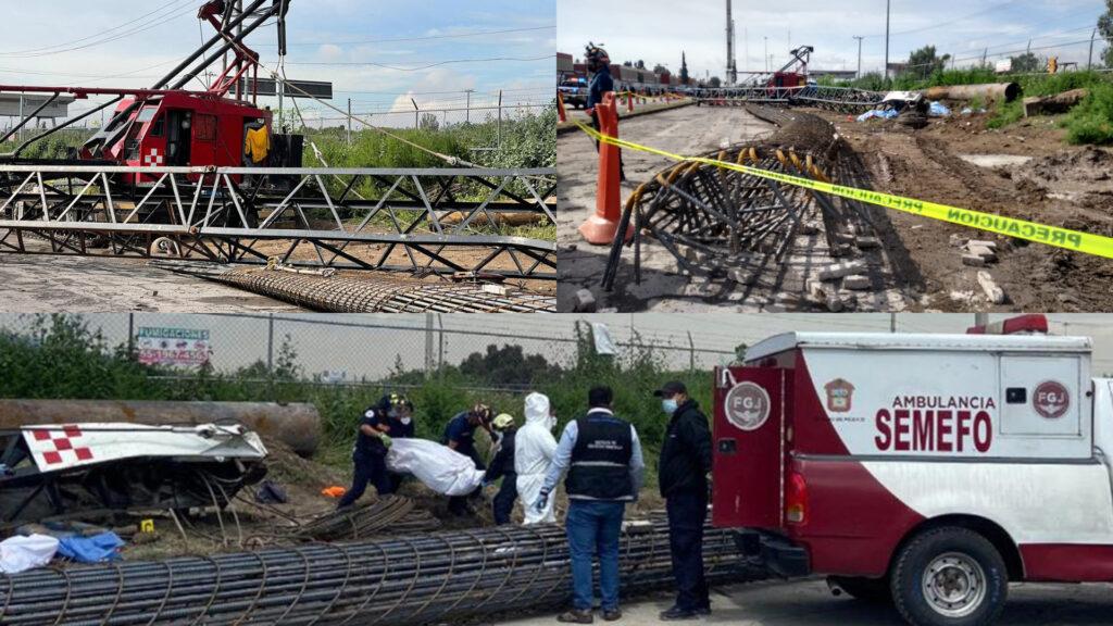 5 mueren en Ecatepec tras desplome de grúa en su primer día de trabajo (Video)