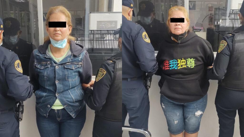 Policía CDMX tras persecución, detuvo a 2 colombianas por robo a transeúnte en Alcaldía Miguel Hidalgo