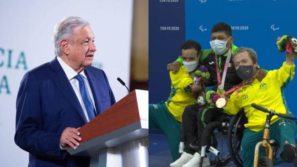 AMLO felicita a medallistas paralímpicos