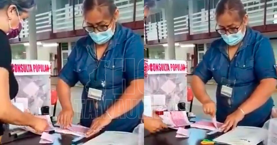 VIDEO I Denuncian presunta manipulación en llenado de urnas en consulta popular Foto: Internet