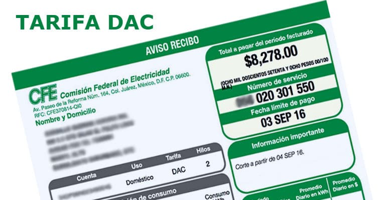 Tarifa de CFE para energía doméstica ha subido 20.9%