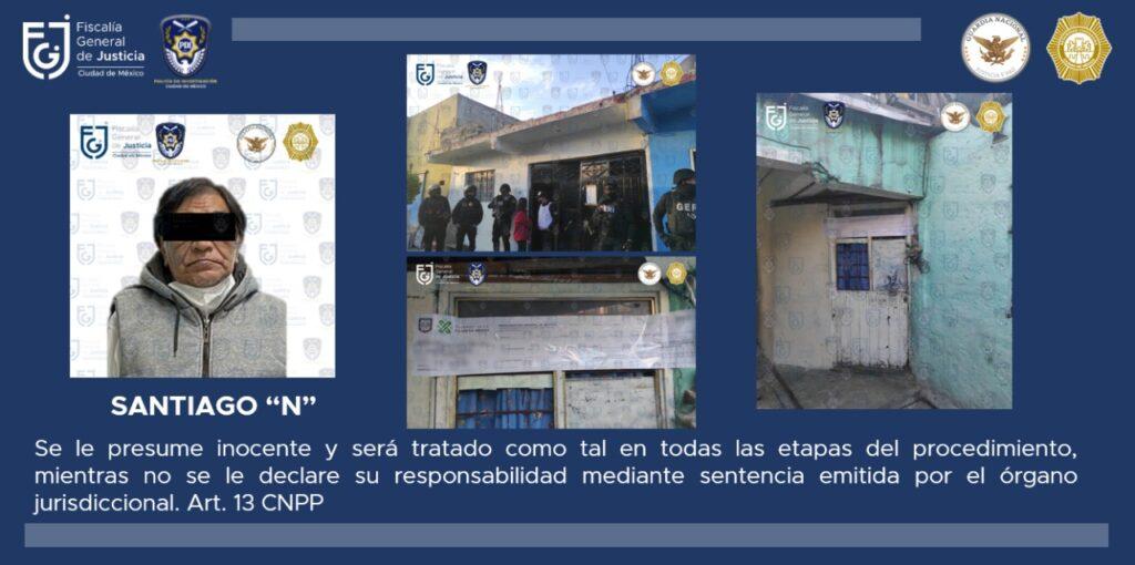 Fiscalía CDMX detuvo a adulto mayor en posesión de narcóticos, tras cateo en Iztacalco