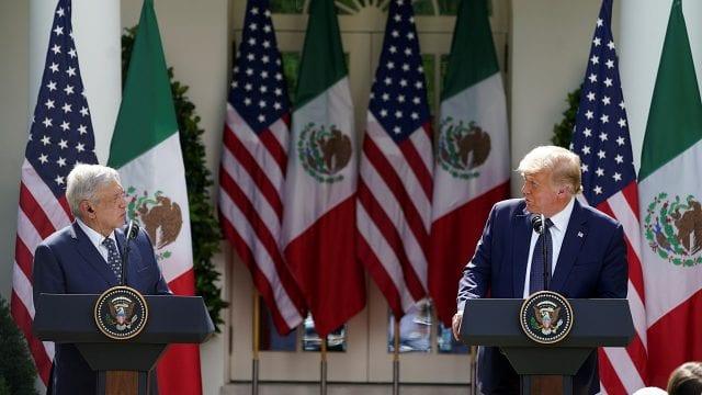 AMLO- Donald Trump Foto: Internet