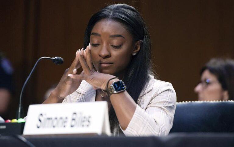 """Simone Biles dijo al Congreso estadounidense """"ya es suficiente"""" en casos de abuso Foto: AP"""