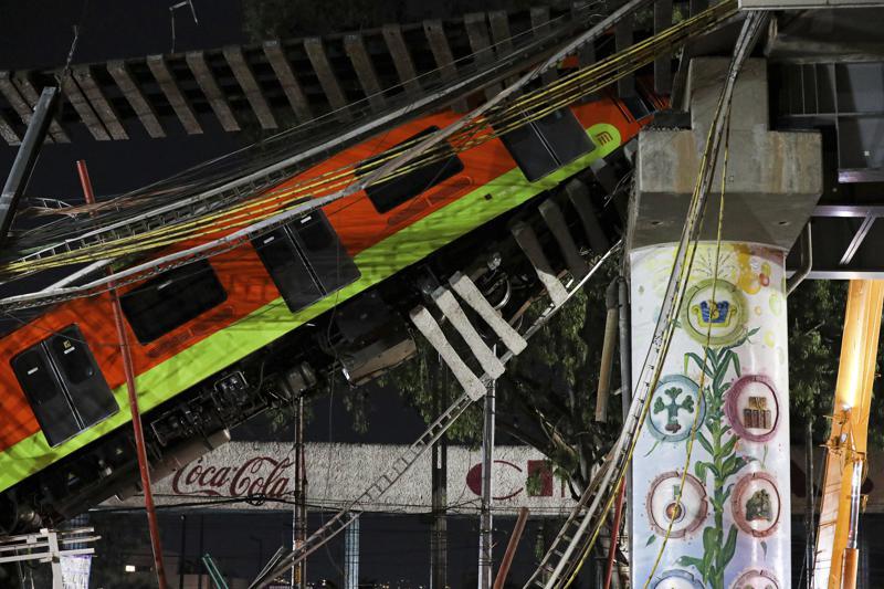 Reporte achaca a malas soldaduras colapso de la Línea 12 del metro Foto: AP