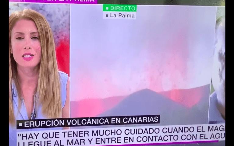 Por preguntar ¿Cómo se apaga un volcán?, a conductora española le llueven críticas