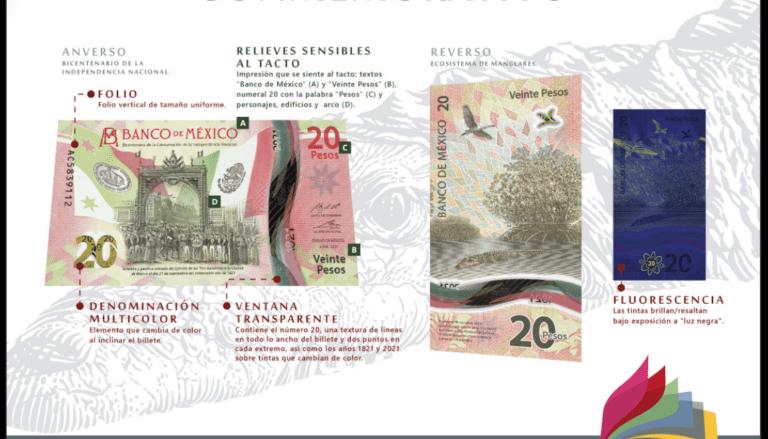 Banco de México presenta nuevo billete de 20 pesos Foto: @Banxico