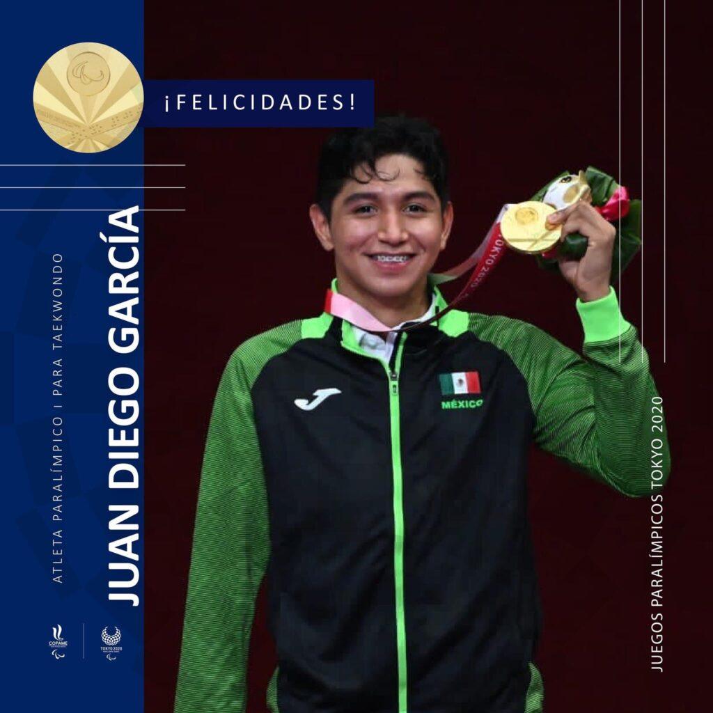 Juan Diego García gana medalla de Oro, la 7ª para México en Juegos Paralímpicos