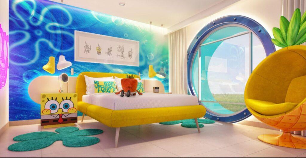 Habitación Bob Esponja cuesta 338 mil en hotel Nickelodeon de Riviera Maya