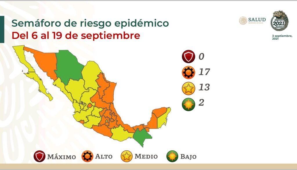 Ningún estado se encuentra en semáforo rojo; se reporta un descenso de 14% en casos Covid-19: Salud