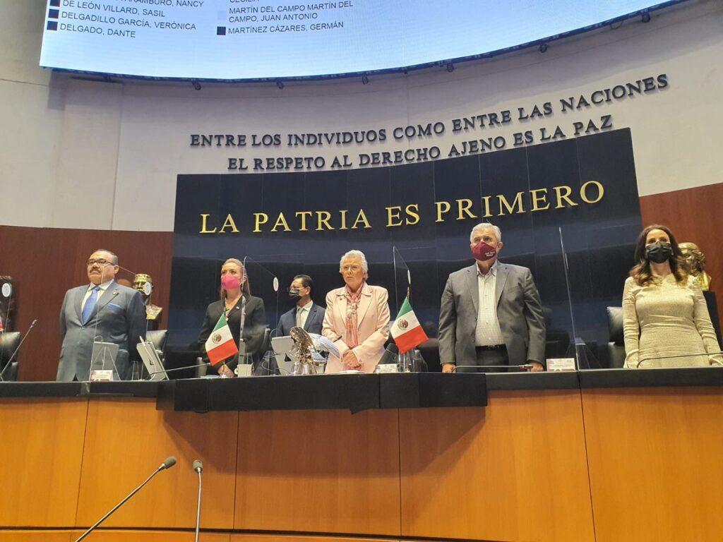 Minuto de silencio en el Senado a la memoria de Enrique González Pedrero Foto: @NarroJose